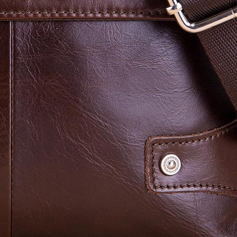 BULLCAPTAIN-Sac-de-valise-pour-hommes-Sac-a-bandouliere-en-cuir-veritable-pou-T6 miniature 17
