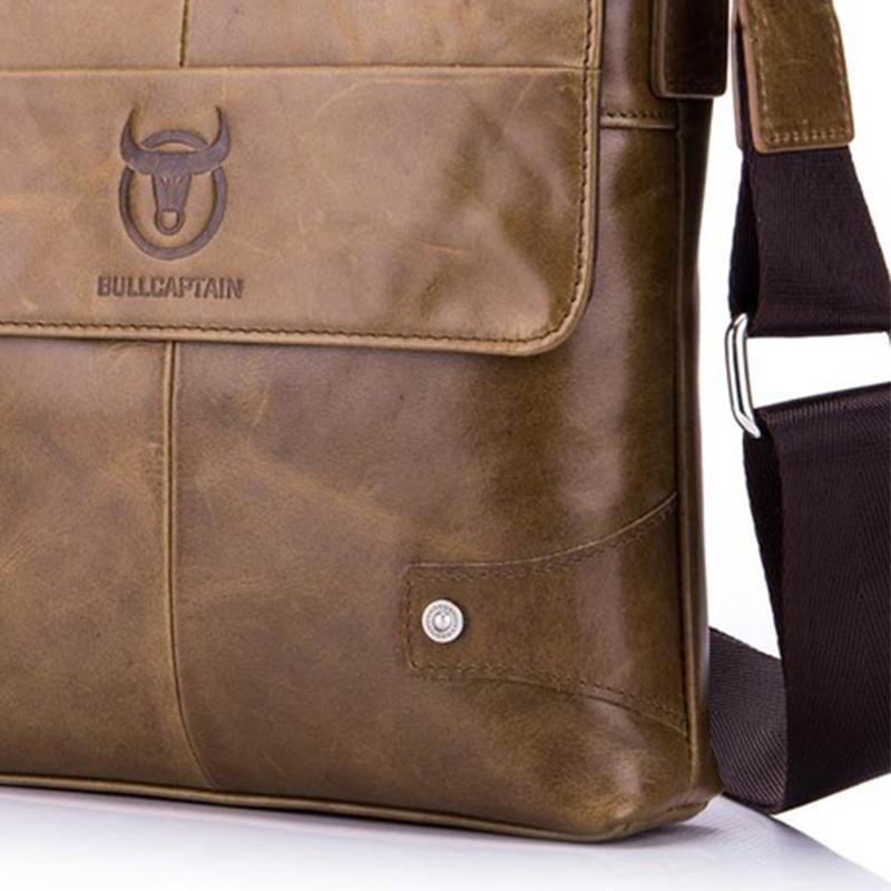 BULLCAPTAIN-Sac-de-valise-pour-hommes-Sac-a-bandouliere-en-cuir-veritable-pou-T6 miniature 20