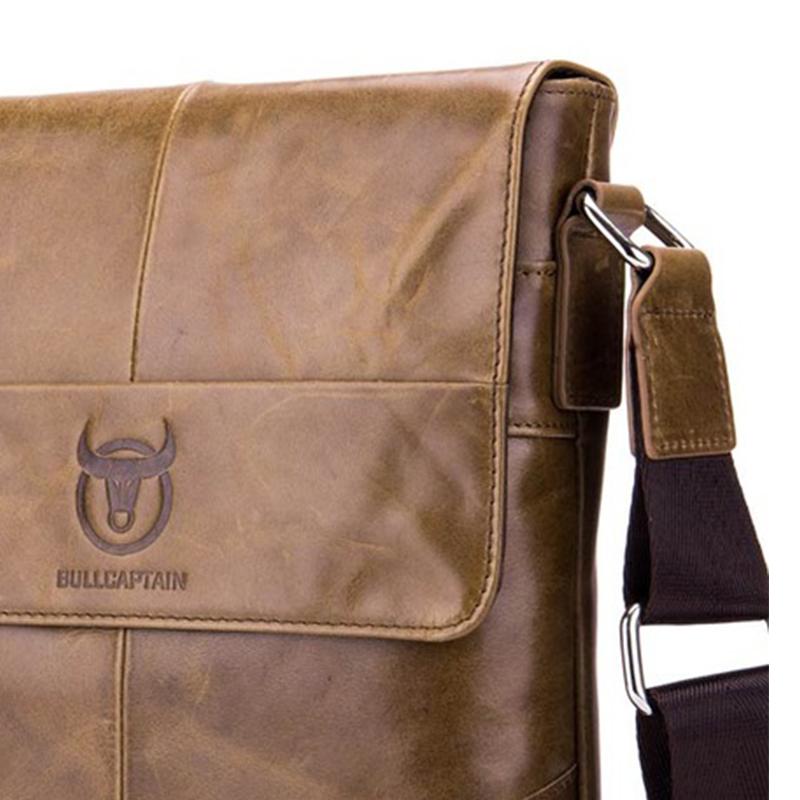 BULLCAPTAIN-Sac-de-valise-pour-hommes-Sac-a-bandouliere-en-cuir-veritable-pou-T6 miniature 22