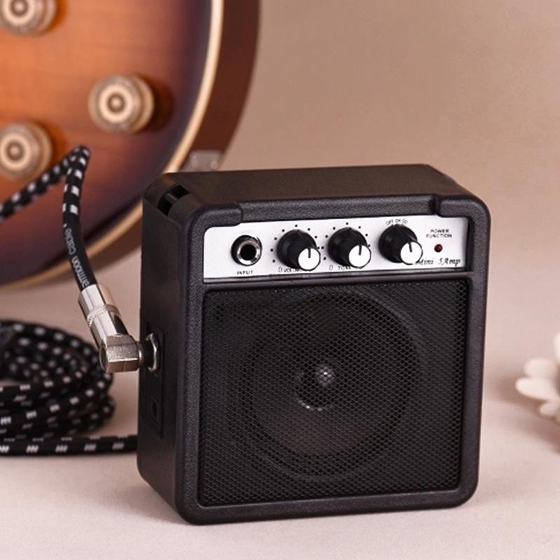 Mini-5-Watt-9V-Battery-Powered-Amp-Amplifier-Speaker-for-Acoustic-Electric-G-DS thumbnail 7