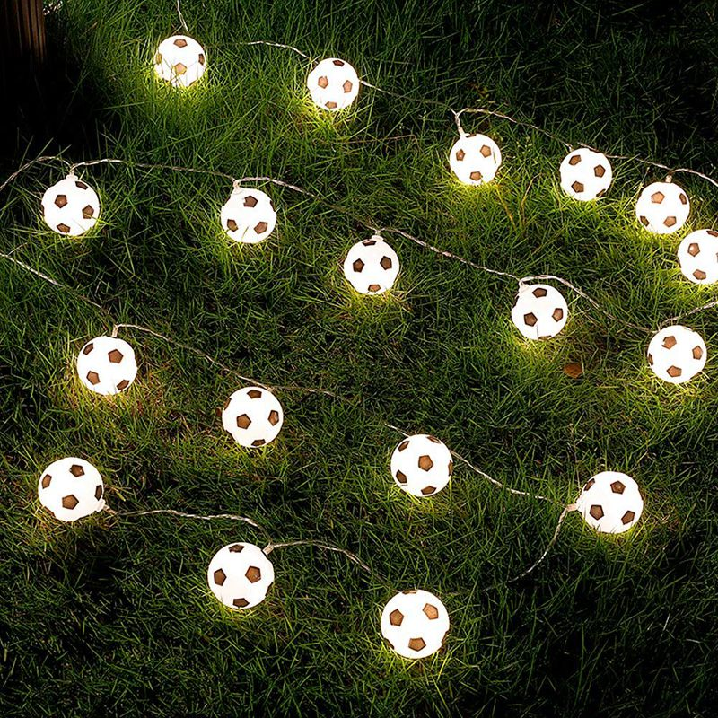 5X-Guirlande-lumineuse-20-LED-Decoration-du-monde-moderne-de-football-decor-J6W4