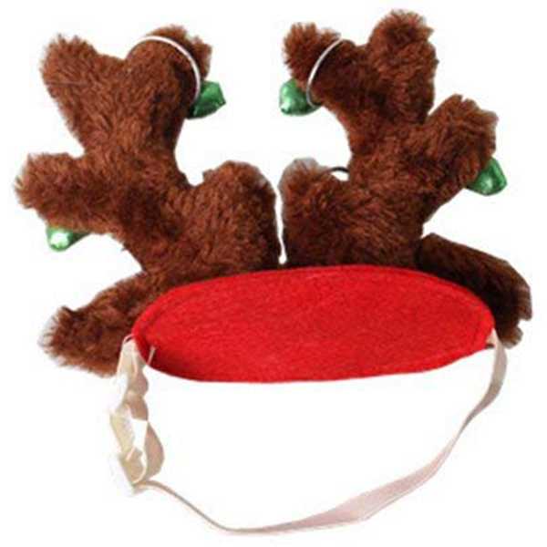 10X-Dog-Elk-Reindeer-Antler-Hat-Cap-Dog-Cat-Pet-Christmas-Outfits-Small-Headwe9 thumbnail 7