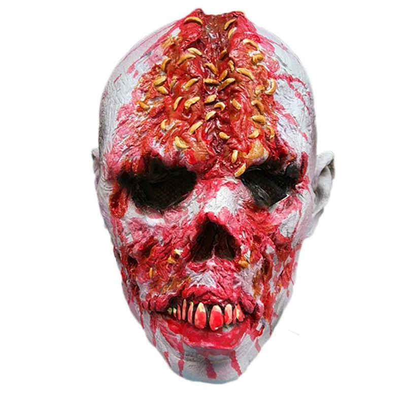 horror scary zombie mask halloween costumes cosplay costume latex full mask w1c4