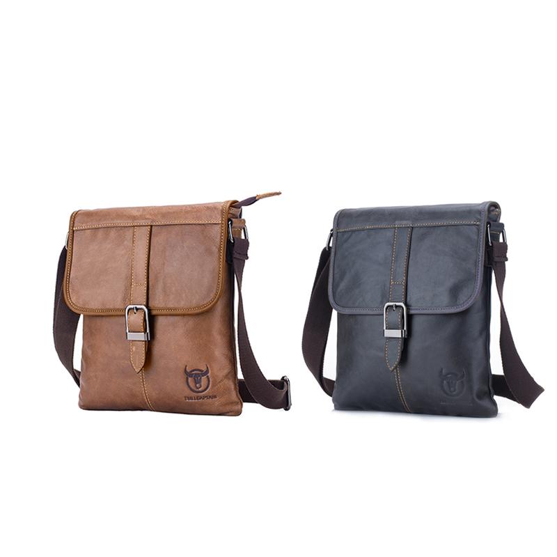 31027b609e0 BULLCAPTAIN Men s Bag Genuine Leather Man Bag Shoulder Bag Crossbody ...