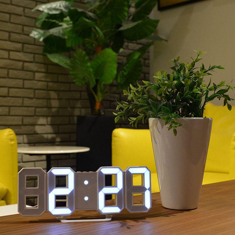 Horloge-murale-LED-3D-Reveil-numerique-moderne-Affichage-de-maison-cuisine-bu-Y2 miniature 6