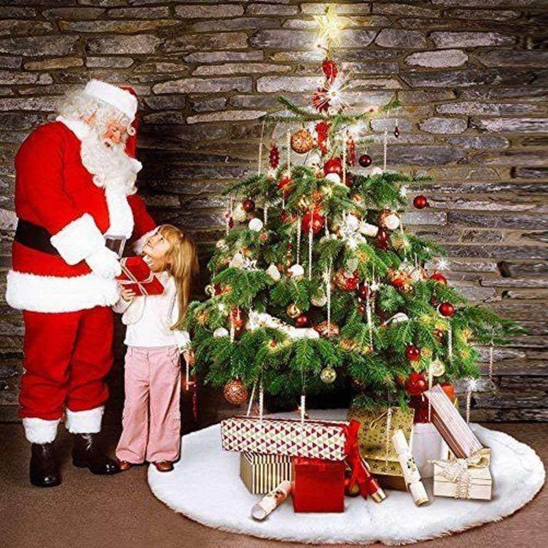 1X Gonna Natale di tappeto 1PZ bianco creativo di albero albero pfqpS7