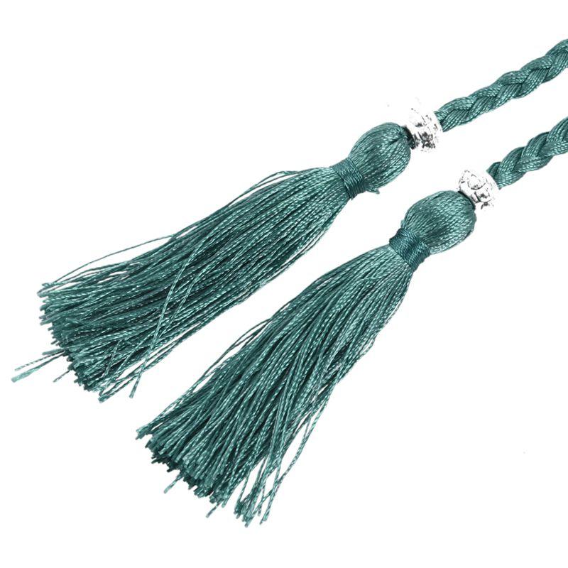 Woven-Pompon-Ceinture-Noeud-Decore-Taille-Chaine-Taille-Corde-P5N3 miniature 64