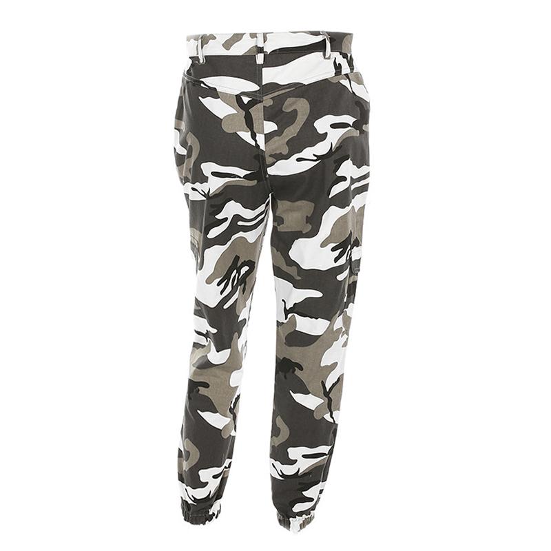 Pantalones-Largos-de-Camuflaje-Suelto-de-Alta-Cintura-de-Moda-de-Mujer-Pant-C9B6 miniatura 6