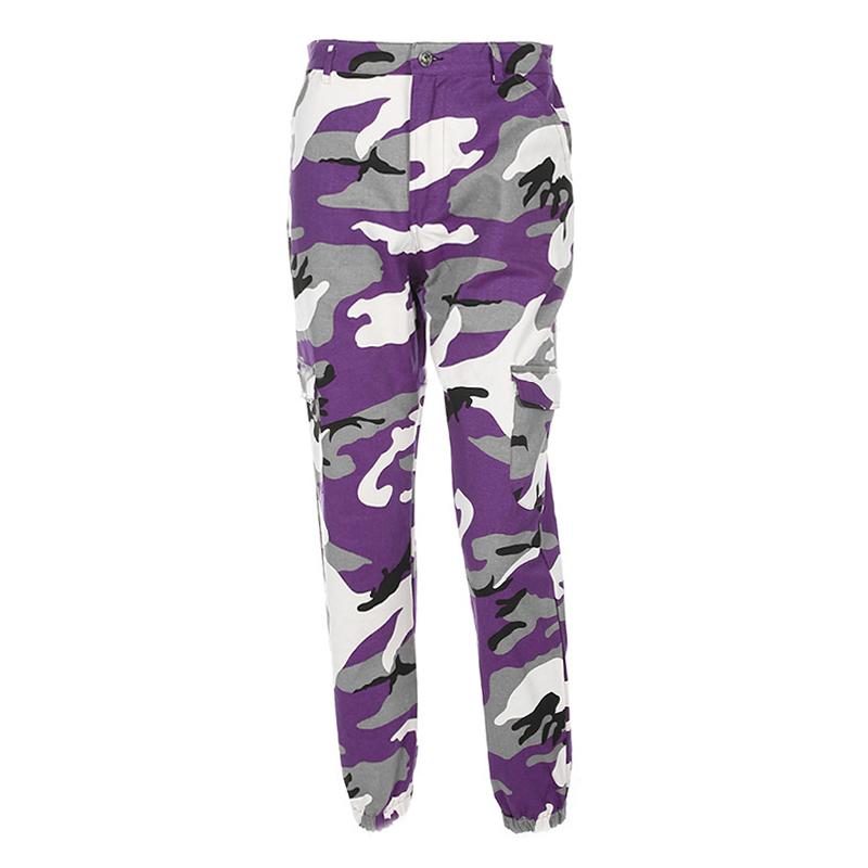 Pantalones-Largos-de-Camuflaje-Suelto-de-Alta-Cintura-de-Moda-de-Mujer-Pant-C9B6 miniatura 13