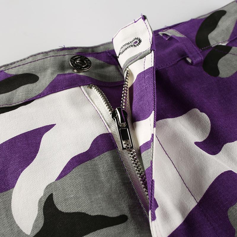 Pantalones-Largos-de-Camuflaje-Suelto-de-Alta-Cintura-de-Moda-de-Mujer-Pant-C9B6 miniatura 18