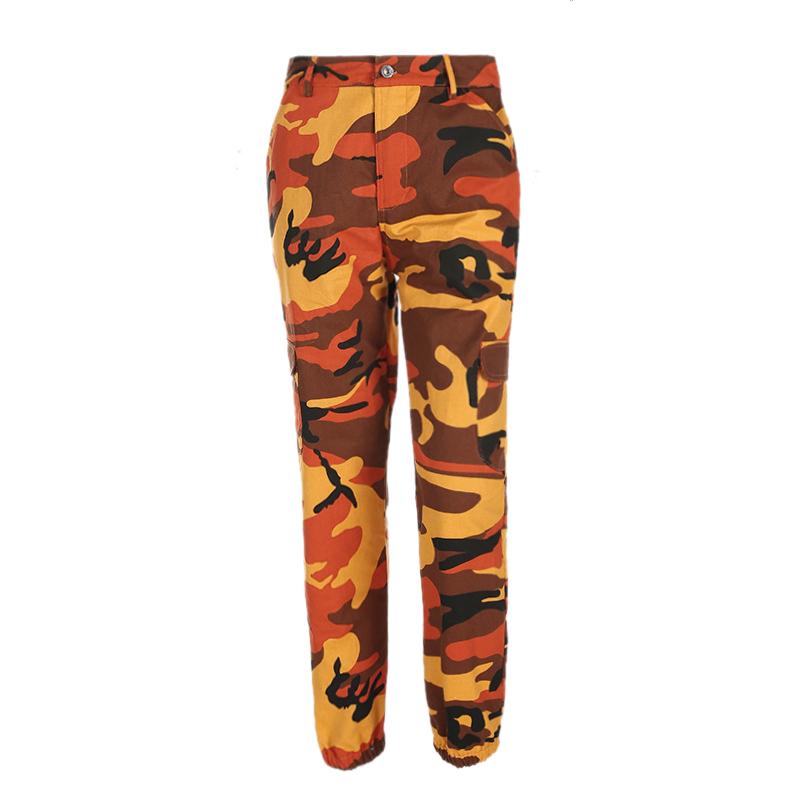 Pantalones-Largos-de-Camuflaje-Suelto-de-Alta-Cintura-de-Moda-de-Mujer-Pant-C9B6 miniatura 23