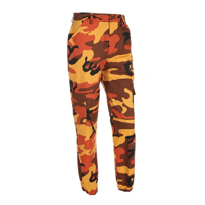 Pantalones-Largos-de-Camuflaje-Suelto-de-Alta-Cintura-de-Moda-de-Mujer-Pant-C9B6 miniatura 24
