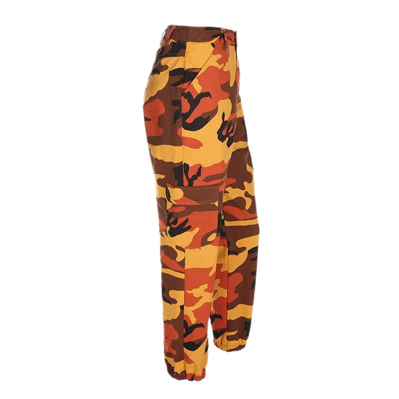 Pantalones-Largos-de-Camuflaje-Suelto-de-Alta-Cintura-de-Moda-de-Mujer-Pant-C9B6 miniatura 25
