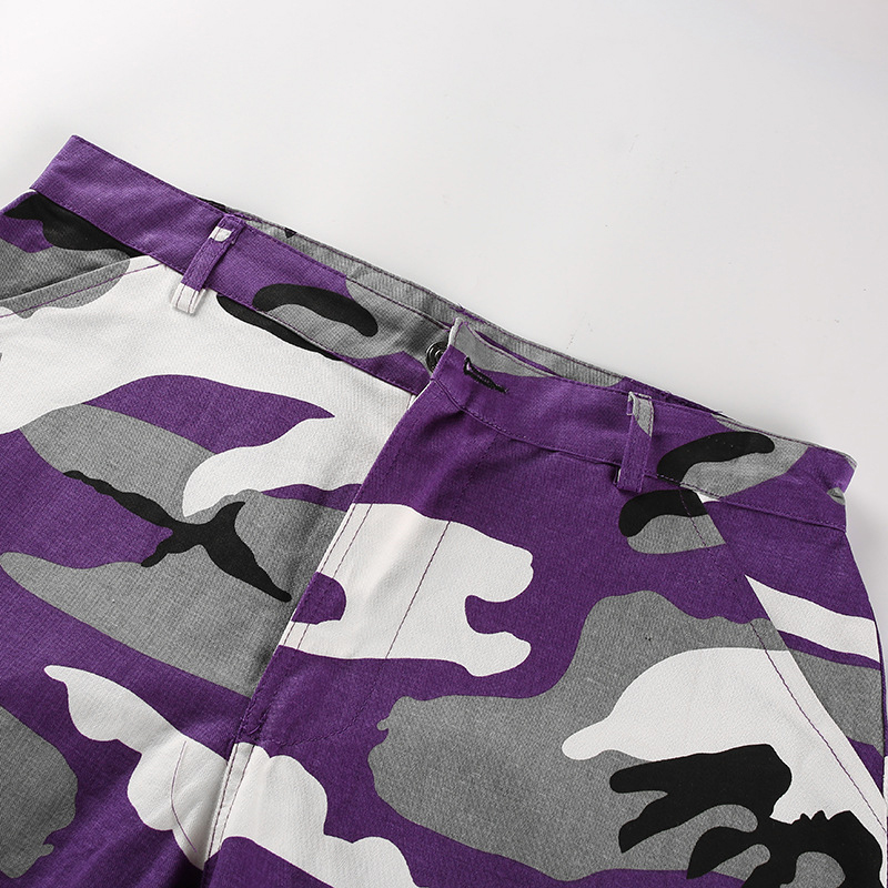 Pantalones-Largos-de-Camuflaje-Suelto-de-Alta-Cintura-de-Moda-de-Mujer-Pant-C9B6 miniatura 27