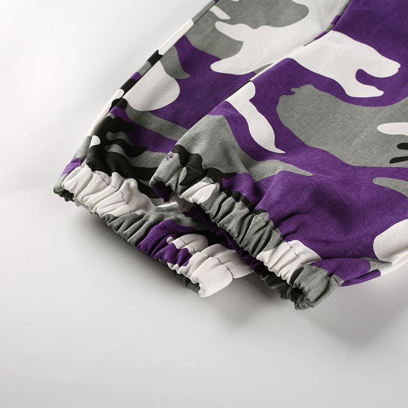 Pantalones-Largos-de-Camuflaje-Suelto-de-Alta-Cintura-de-Moda-de-Mujer-Pant-C9B6 miniatura 30