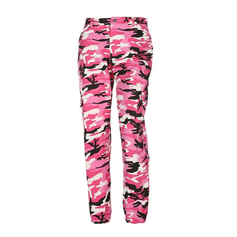 Pantalones-Largos-de-Camuflaje-Suelto-de-Alta-Cintura-de-Moda-de-Mujer-Pant-C9B6 miniatura 33