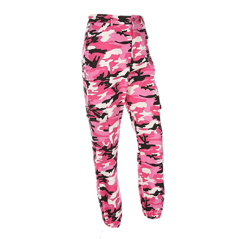 Pantalones-Largos-de-Camuflaje-Suelto-de-Alta-Cintura-de-Moda-de-Mujer-Pant-C9B6 miniatura 34