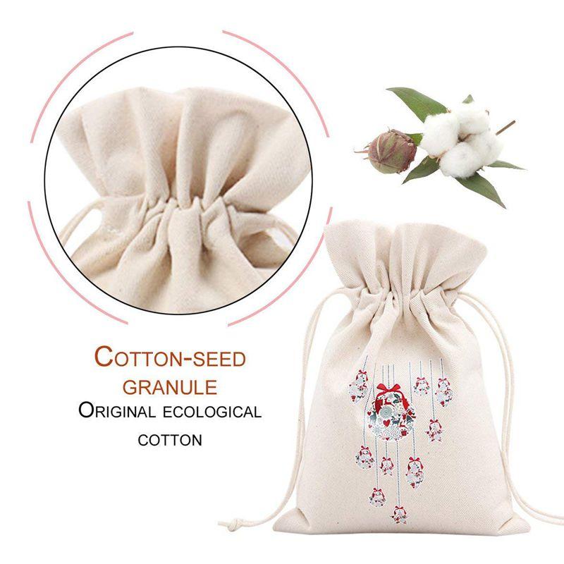 3X-Unique-Design-Grand-Cadeau-De-Noel-Sac-Fete-A-la-MAISON-Decoration-Vintage-Co miniature 3