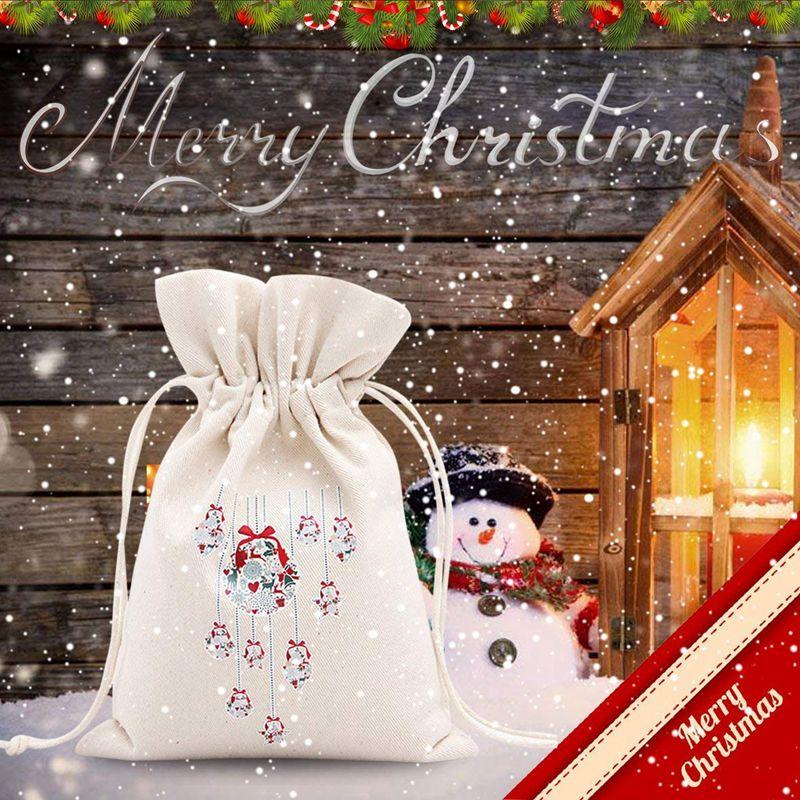 3X-Unique-Design-Grand-Cadeau-De-Noel-Sac-Fete-A-la-MAISON-Decoration-Vintage-Co miniature 4