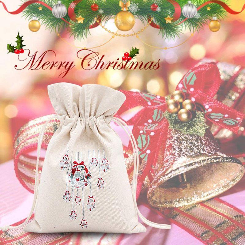 3X-Unique-Design-Grand-Cadeau-De-Noel-Sac-Fete-A-la-MAISON-Decoration-Vintage-Co miniature 5