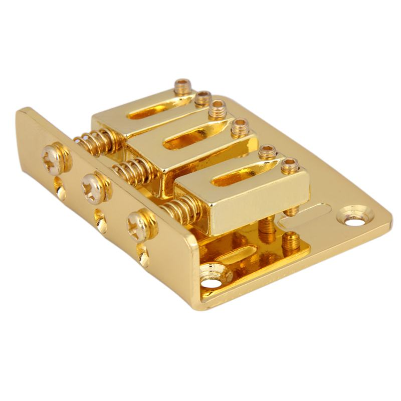 1X-Cigar-Box-Guitar-Parts-3-string-Hard-tail-Adjustable-Bridge-R2S3 thumbnail 5
