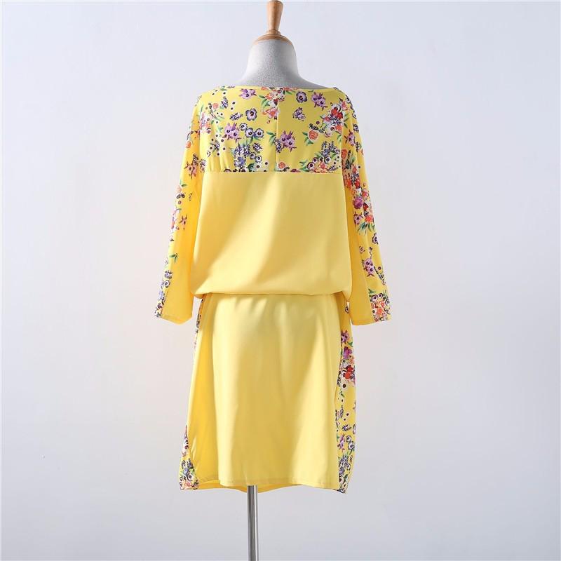 Robe-imprimee-de-grande-taille-Robe-droite-Robe-confortable-sexy-Vetements-Ro-V8 miniature 8