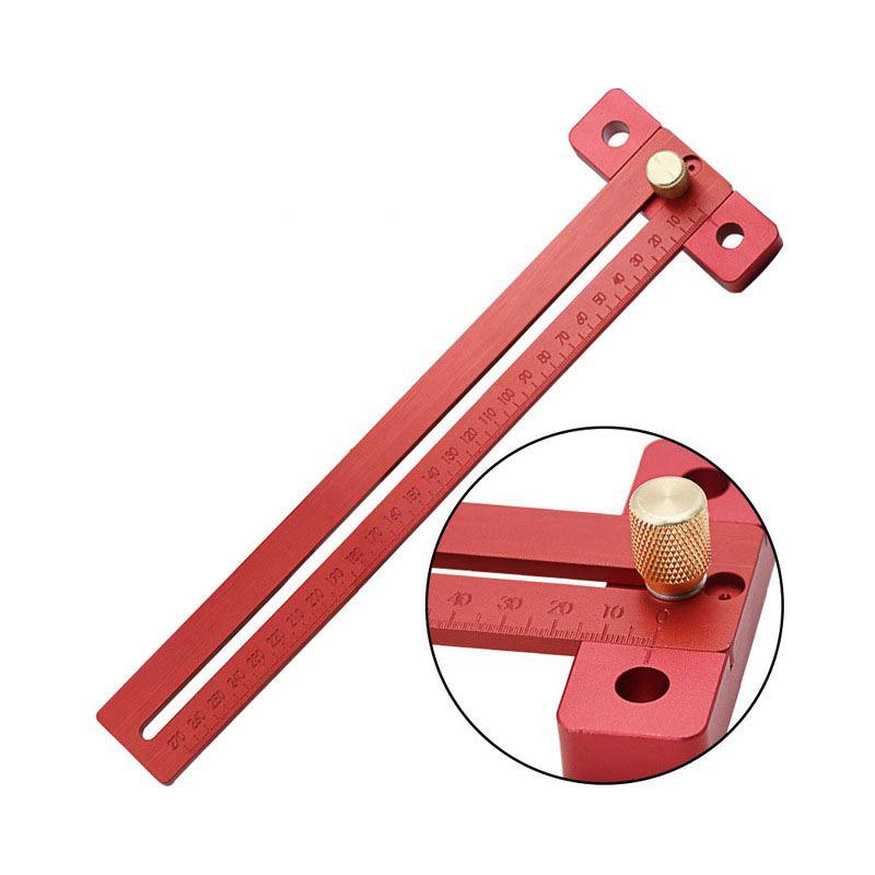7X(Aluminiumlegierung Gekreuztes Lineal Holzbearbeitung T-Typ Scribe Holzlabo J6 | Moderne Muster  | König der Quantität  | Kompletter Spezifikationsbereich