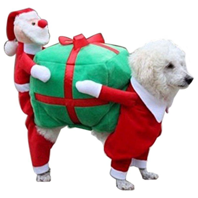 Christmas Dog Costumes.Christmas Dog Costumes Funny Santa Claus Dog Clothes Dog