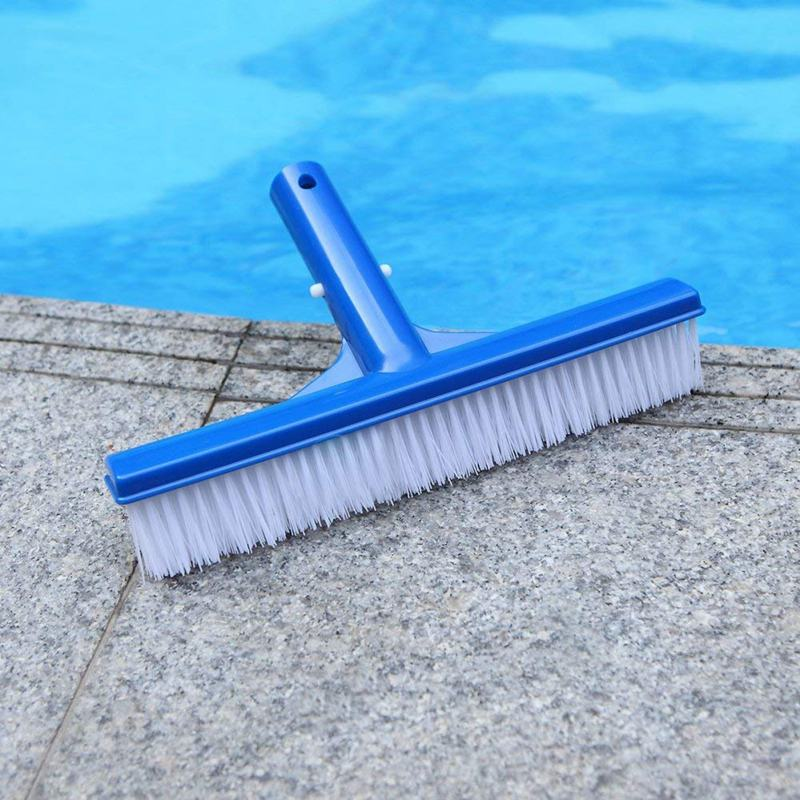 Pool Brush 10 Inch Wide Durable Pool Floor Wall Cleaning