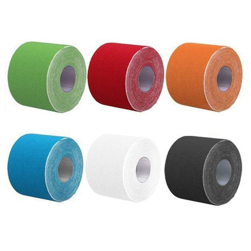 2X(5Mx5cm Kinesiology Elastic Tape Rope Sports Physio Muscle Strain Injury Su 2A