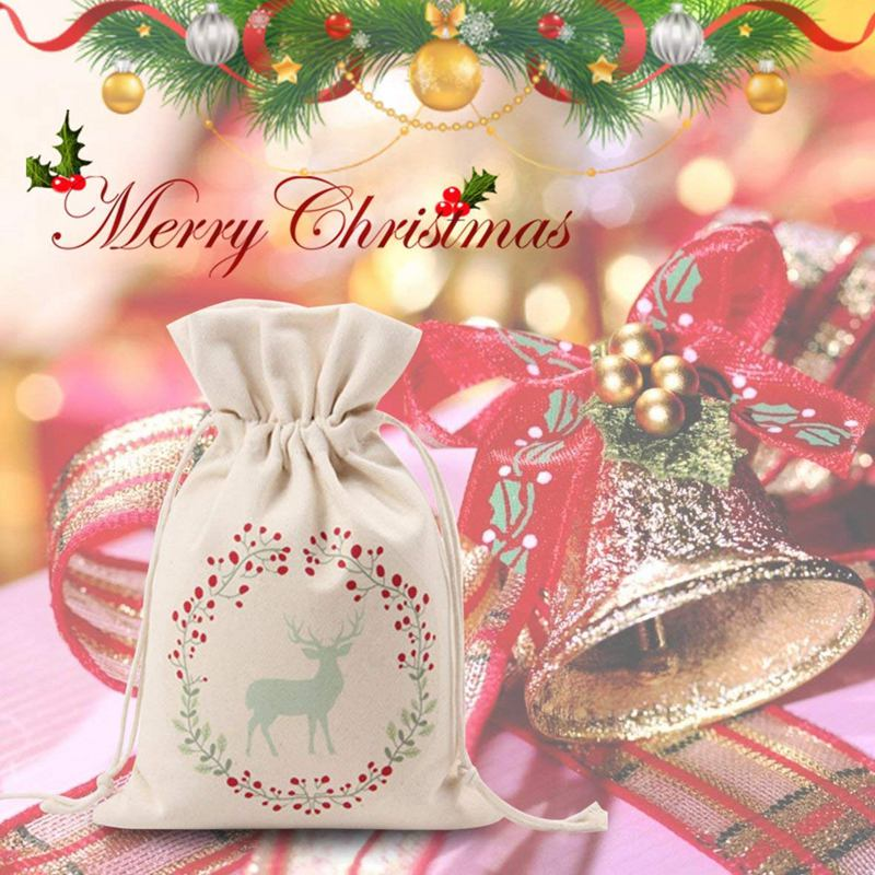Christmas Gift Packages.Details About Christmas Gift Bags Drawstring Organza Gift Packages Santa Sack Wedding Candy Sf
