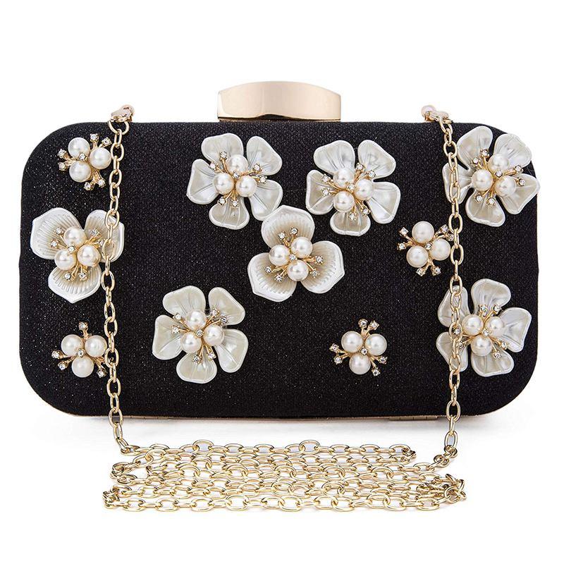 fae051dbbaf Women Floral Beaded Design Evening Clutch Bags Wedding Purse(black) Y1d1.  About this product. Picture 1 of 9; Picture 2 of 9 ...