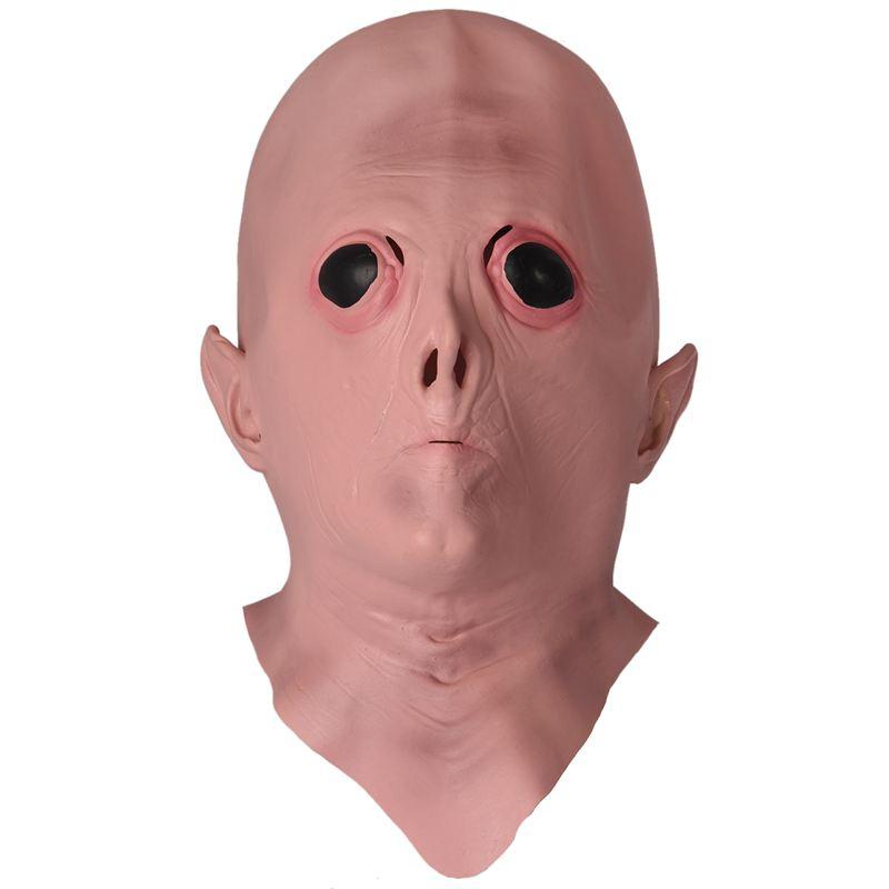 nackt mit maske