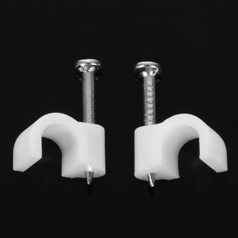 3X-5Mm-Attache-De-Fixation-De-Fil-De-Cable-De-Diametre-Avec-Clous-De-Fixat-RW1 miniature 6