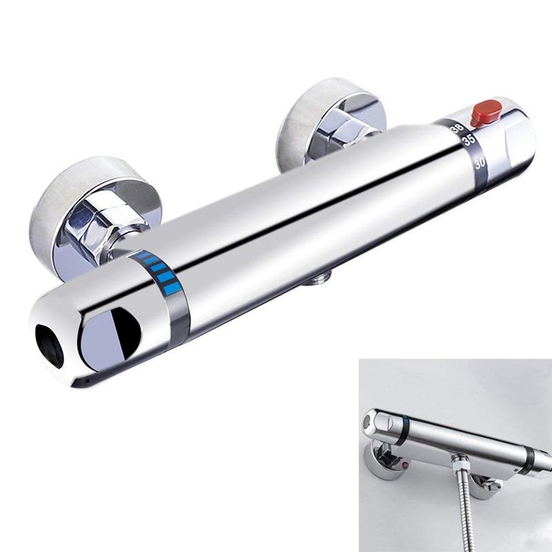 3X (Barra de Cromo Termostática Válvula Mezclador De Ducha Anti Quemaduras Tap I8B1)