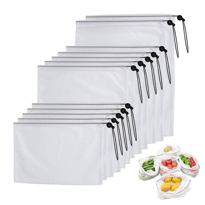 10X(Sacs de produit en filet reutilisables,sac de produit en filet lavable  9N1)