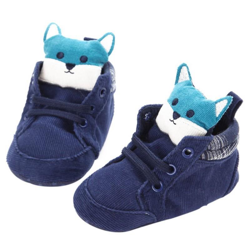 1-paire-de-chaussures-de-bebe-d-039-automne-enfants-garcon-fille-tete-de-renard-U0O3 miniature 4