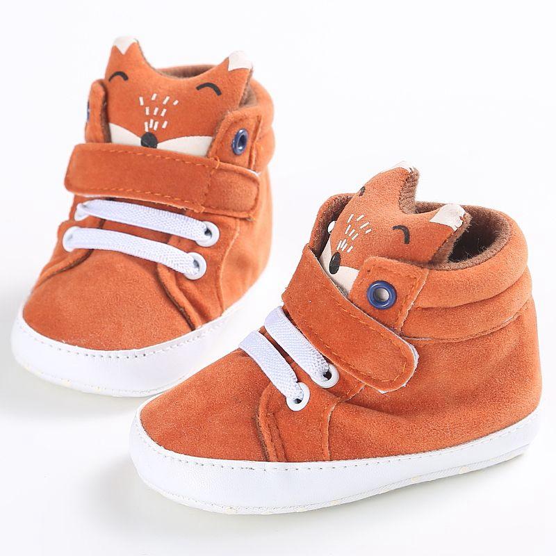 1X-1-paire-de-chaussures-de-bebe-d-039-automne-enfants-garcon-fille-tete-de-ren-J5H4 miniature 4