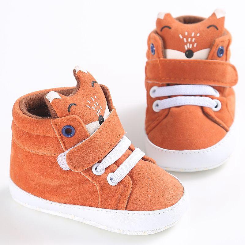 1-paire-de-chaussures-de-bebe-d-039-automne-enfants-garcon-fille-tete-de-renard-G2Q6 miniature 3