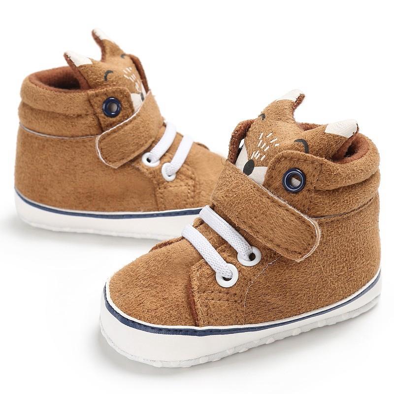 1X-1-paire-de-chaussures-de-bebe-d-039-automne-enfants-garcon-fille-tete-de-ren-J5H4 miniature 10