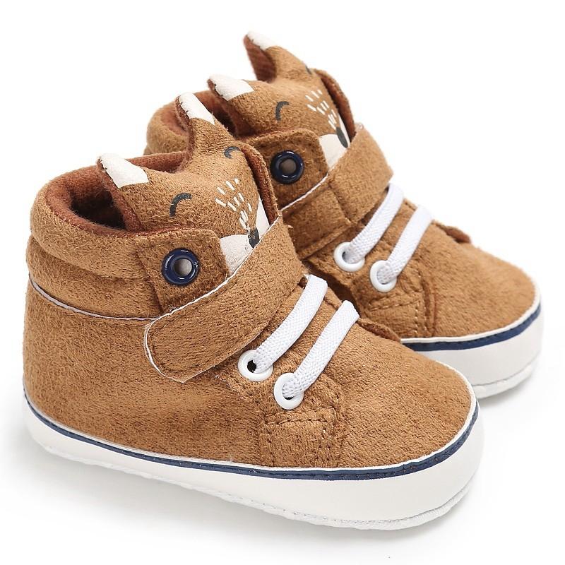 1X-1-paire-de-chaussures-de-bebe-d-039-automne-enfants-garcon-fille-tete-de-ren-J5H4 miniature 11