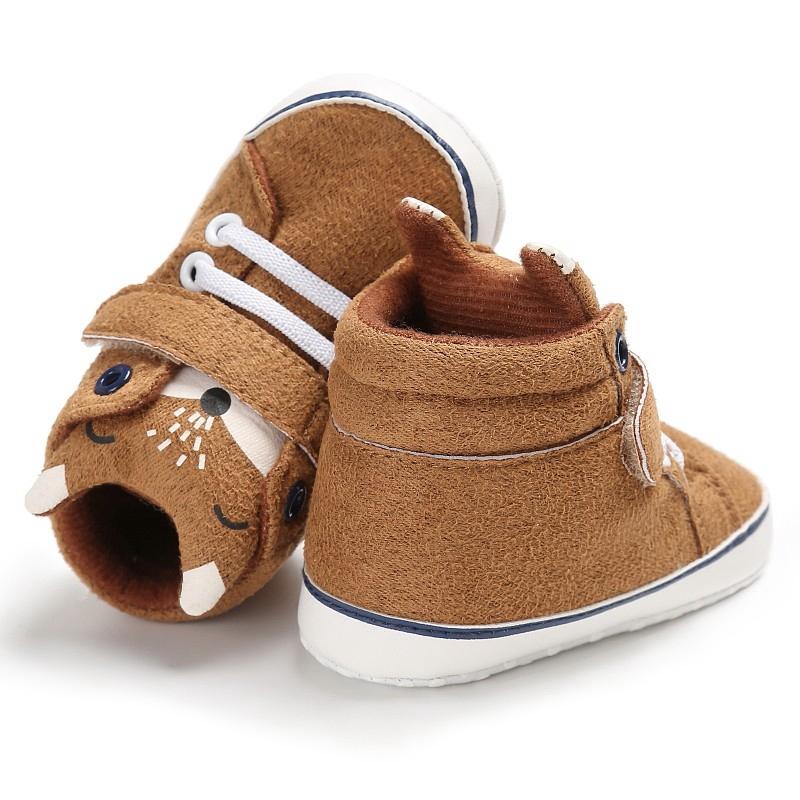 1X-1-paire-de-chaussures-de-bebe-d-039-automne-enfants-garcon-fille-tete-de-ren-J5H4 miniature 12