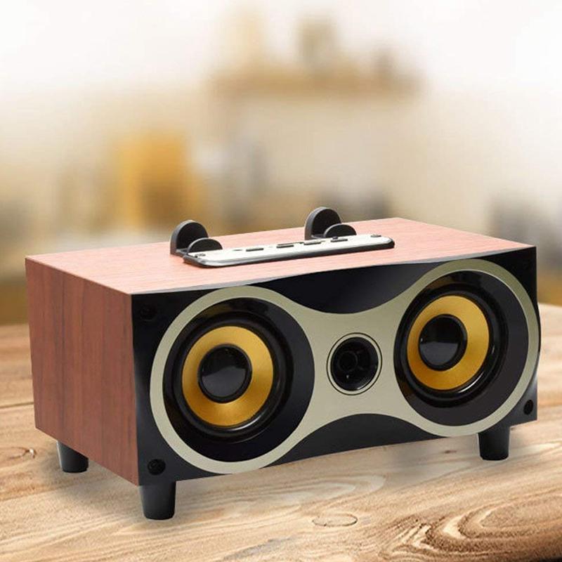 desktop tragbare holz drahtlose lautsprecher subwoofer. Black Bedroom Furniture Sets. Home Design Ideas