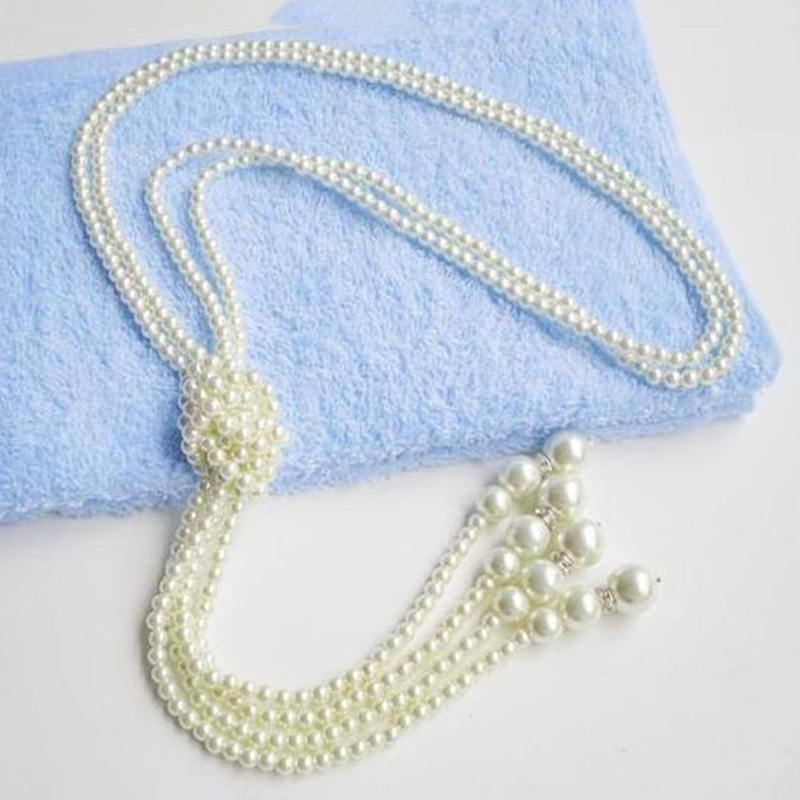 e388b2c1a037 1X(Anudado Largo Collar de Perlas Moda de Mujer Suéter Cadena de ...