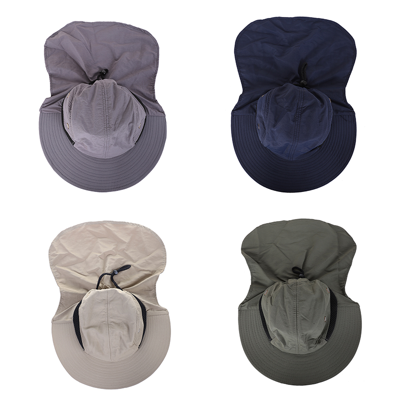 637ab54a6ba 1X(Outdoor Fishing Hiking Boonie Snap Hat Brim Ear Neck Cover Sun ...