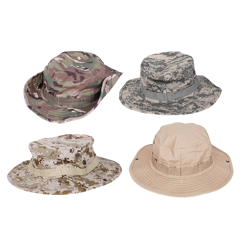 cf18518d Camouflage Hat Boonie Fisherman Rounded Sun Protection Hat Outdoor Climbing  8U6