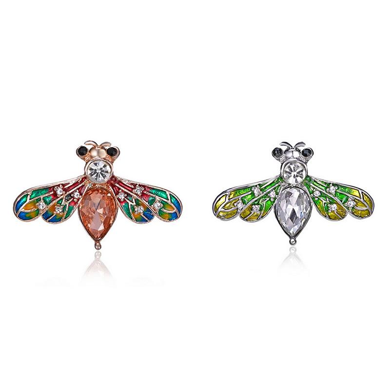 53f621535850 3X(broche de cristal abeja de moda bisuteria de regalo cristal joyas ...