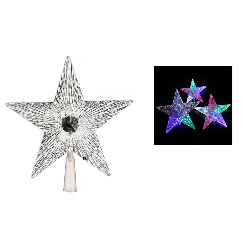 Stella Di Natale A 5 Punte.Dettagli Su 2x Led Stella A Cinque Punte Albero Di Natale Luce A Cupola Decorazione Nat V4v2