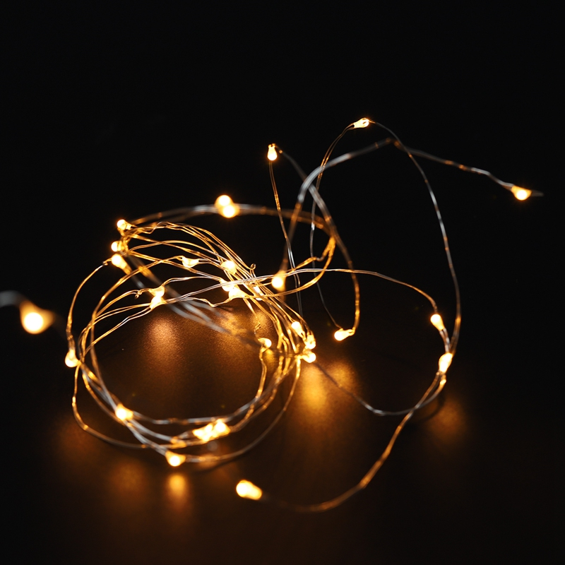 Fairy-Lights-AA-Battery-Powered-5M-50-Leds-Silver-Led-Copper-Wire-String-Li-Z7U7 thumbnail 9