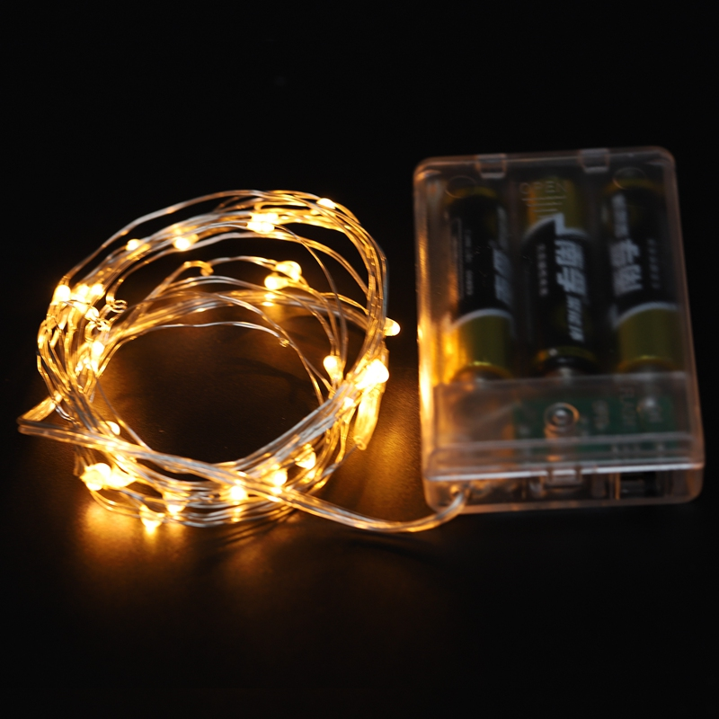 Fairy-Lights-AA-Battery-Powered-5M-50-Leds-Silver-Led-Copper-Wire-String-Li-Z7U7 thumbnail 11
